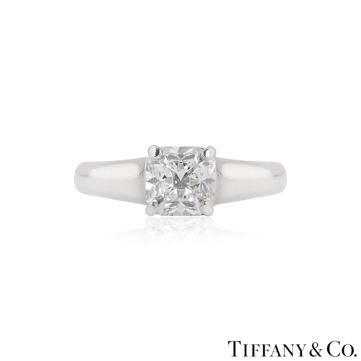 Tiffany & Co. Lucida Cut Diamond Ring 1.52ct G/VVS1